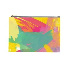 Colorful Paint Brush  Cosmetic Bag (large)  by Brittlevirginclothing