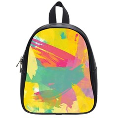 Colorful Paint Brush  School Bags (small)  by Brittlevirginclothing