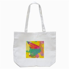 Colorful Paint Brush  Tote Bag (white) by Brittlevirginclothing