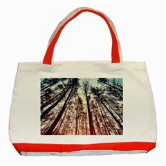 Lovely Up View Forest  Classic Tote Bag (red) by Brittlevirginclothing