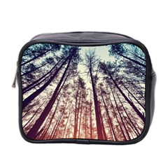 Lovely Up View Forest  Mini Toiletries Bag 2 Side by Brittlevirginclothing