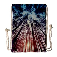 Lovely Up View Forest  Drawstring Bag (large) by Brittlevirginclothing