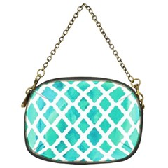 Blue Mosaic  Chain Purses (one Side)  by Brittlevirginclothing
