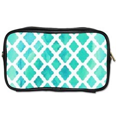 Blue Mosaic  Toiletries Bags 2 Side by Brittlevirginclothing