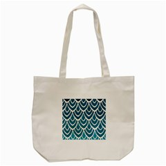 Blue Fish Scales  Tote Bag (cream) by Brittlevirginclothing