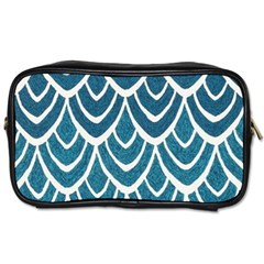 Blue Fish Scales  Toiletries Bags by Brittlevirginclothing