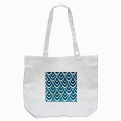 Blue Fish Scales  Tote Bag (white) by Brittlevirginclothing