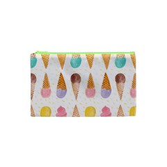 Colorful Ice Cream  Cosmetic Bag (xs) by Brittlevirginclothing