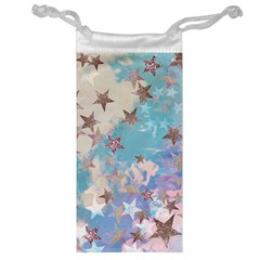 Pastel Colored Stars  Jewelry Bag by Brittlevirginclothing
