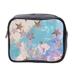 Pastel Colored Stars  Mini Toiletries Bag 2 Side by Brittlevirginclothing