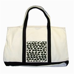 Black Cat Two Tone Tote Bag by Brittlevirginclothing