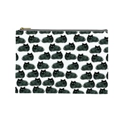 Black Cat Cosmetic Bag (large)  by Brittlevirginclothing