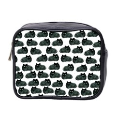 Black Cat Mini Toiletries Bag 2 Side by Brittlevirginclothing