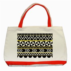 Black Bohemian Classic Tote Bag (red) by Brittlevirginclothing