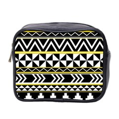 Black Bohemian Mini Toiletries Bag 2 Side by Brittlevirginclothing
