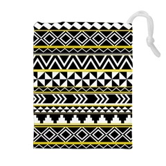 Black Bohemian Drawstring Pouches (extra Large) by Brittlevirginclothing