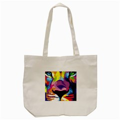 Colorful Lion s Face  Tote Bag (cream) by Brittlevirginclothing