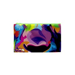 Colorful Lion s Face  Cosmetic Bag (xs) by Brittlevirginclothing