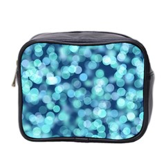 Blue Toned Light  Mini Toiletries Bag 2 Side by Brittlevirginclothing