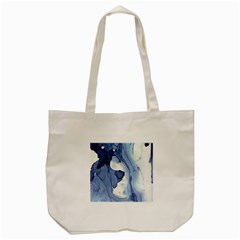 Paint In Water Tote Bag (cream) by Brittlevirginclothing