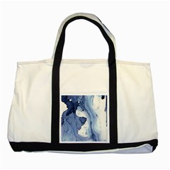 Paint In Water Two Tone Tote Bag by Brittlevirginclothing
