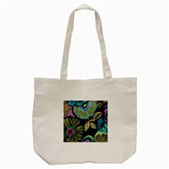 Lila Toned Flowers Tote Bag (cream) by Brittlevirginclothing