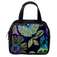 Lila Toned Flowers Classic Handbags (one Side) by Brittlevirginclothing