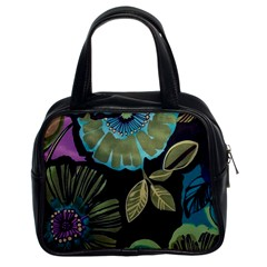 Lila Toned Flowers Classic Handbags (2 Sides) by Brittlevirginclothing