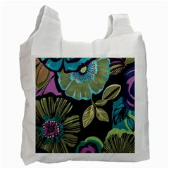 Lila Toned Flowers Recycle Bag (two Side)  by Brittlevirginclothing