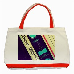 Vintage Casette  Classic Tote Bag (red) by Brittlevirginclothing