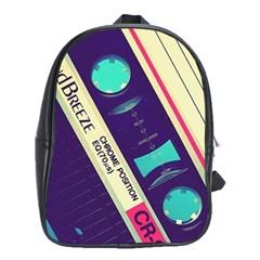 Vintage Casette  School Bags (xl)  by Brittlevirginclothing