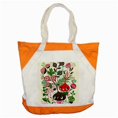 Cute Flower Cartoon  Characters  Accent Tote Bag by Brittlevirginclothing