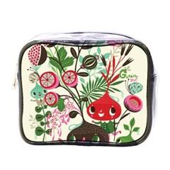Cute Flower Cartoon  Characters  Mini Toiletries Bags by Brittlevirginclothing