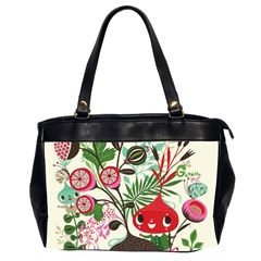 Cute Flower Cartoon  Characters  Office Handbags (2 Sides)  by Brittlevirginclothing