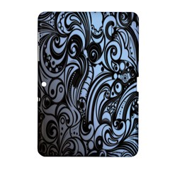 Gray Batik Blue Samsung Galaxy Tab 2 (10 1 ) P5100 Hardshell Case  by Jojostore