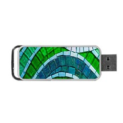 Green Portable Usb Flash (two Sides) by Jojostore