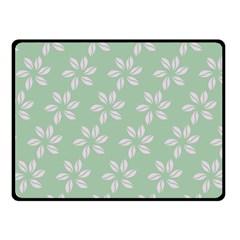 Pink Flowers On Light Green Fleece Blanket (small) by Jojostore