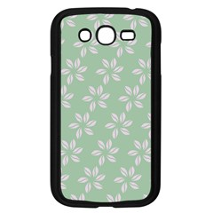Pink Flowers On Light Green Samsung Galaxy Grand Duos I9082 Case (black) by Jojostore