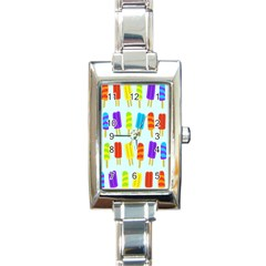 Popsicle Rectangle Italian Charm Watch by Jojostore