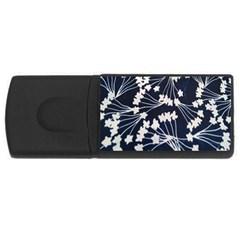 Flower Blue Jpeg Usb Flash Drive Rectangular (4 Gb) by Jojostore