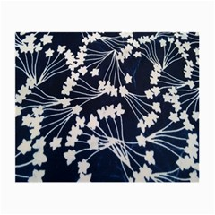 Flower Blue Jpeg Small Glasses Cloth (2 Side) by Jojostore