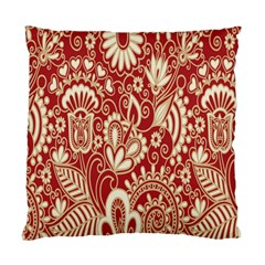 Red Flower White Wallpaper Organic Standard Cushion Case (one Side) by Jojostore
