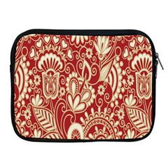 Red Flower White Wallpaper Organic Apple Ipad 2/3/4 Zipper Cases by Jojostore