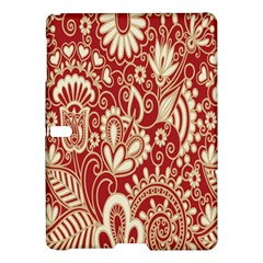 Red Flower White Wallpaper Organic Samsung Galaxy Tab S (10 5 ) Hardshell Case  by Jojostore