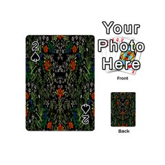 Detail Of The Collection s Floral Pattern Playing Cards 54 (mini)  by Jojostore