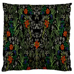 Detail Of The Collection s Floral Pattern Large Cushion Case (one Side) by Jojostore