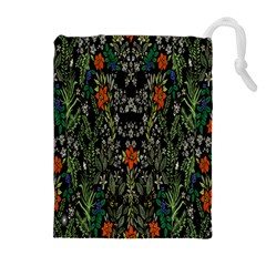 Detail Of The Collection s Floral Pattern Drawstring Pouches (extra Large) by Jojostore