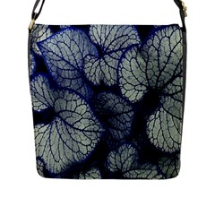 Leaf Purple Flap Messenger Bag (l)  by Jojostore