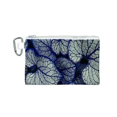 Leaf Purple Canvas Cosmetic Bag (S) by Jojostore