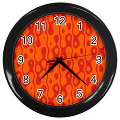Orange Wall Clocks (black) by Jojostore